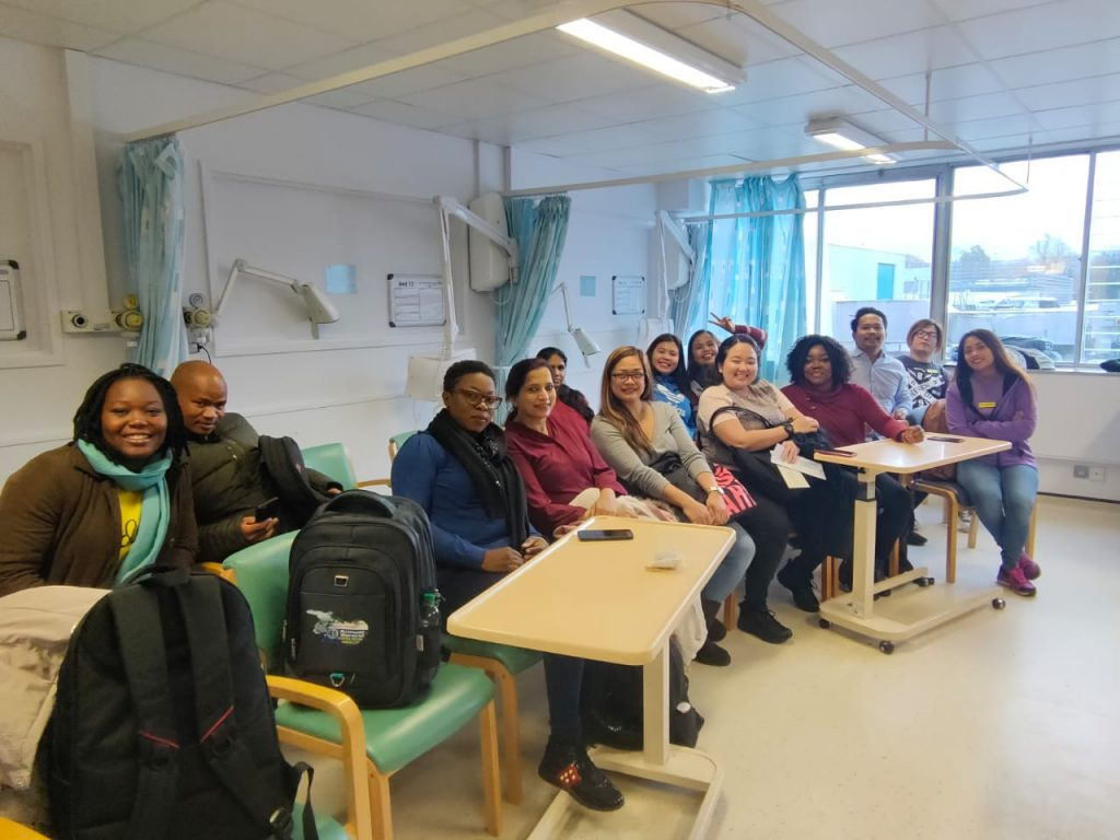 Candidates for York Teaching Hospital NHS Foundation Trust having their OSCE training and NHS induction.