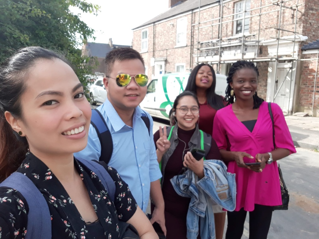 Candidates for York Teaching Hospital NHS Foundation Trust having fun in York City Centre.