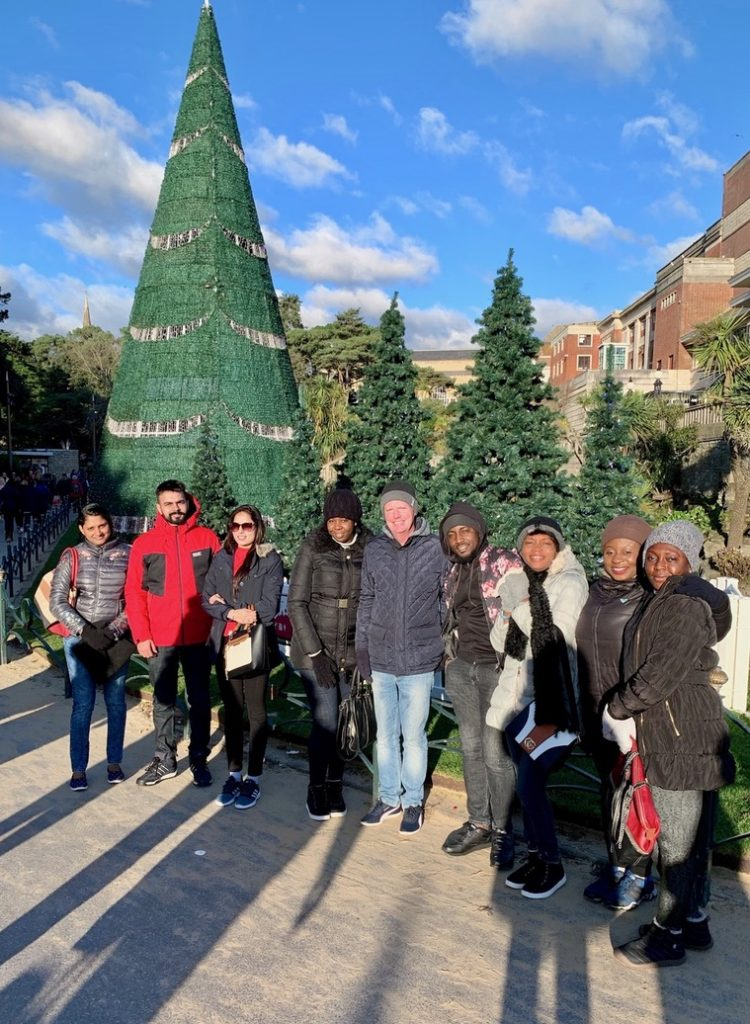 Candidates for The Royal Bournemouth and Christchurch Hospitals NHS Foundation Trust having seasonal fun with our director James in sunny Bournemouth City Centre.