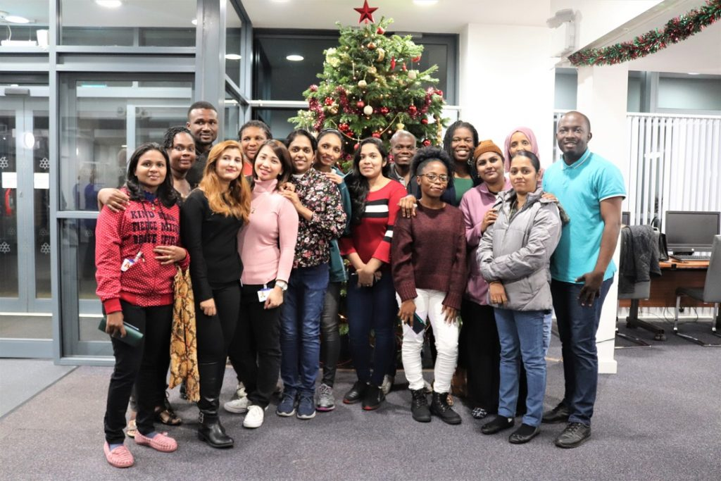 Candidates for Mid Cheshire Hospitals NHS Foundation Trust at their Christmas get together.