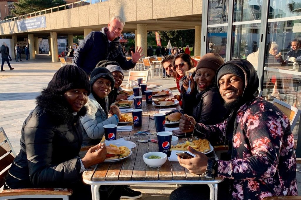 Candidates for The Royal Bournemouth and Christchurch Hospitals NHS Foundation Trust enjoying a meal with our director James in Bournemouth City Centre.