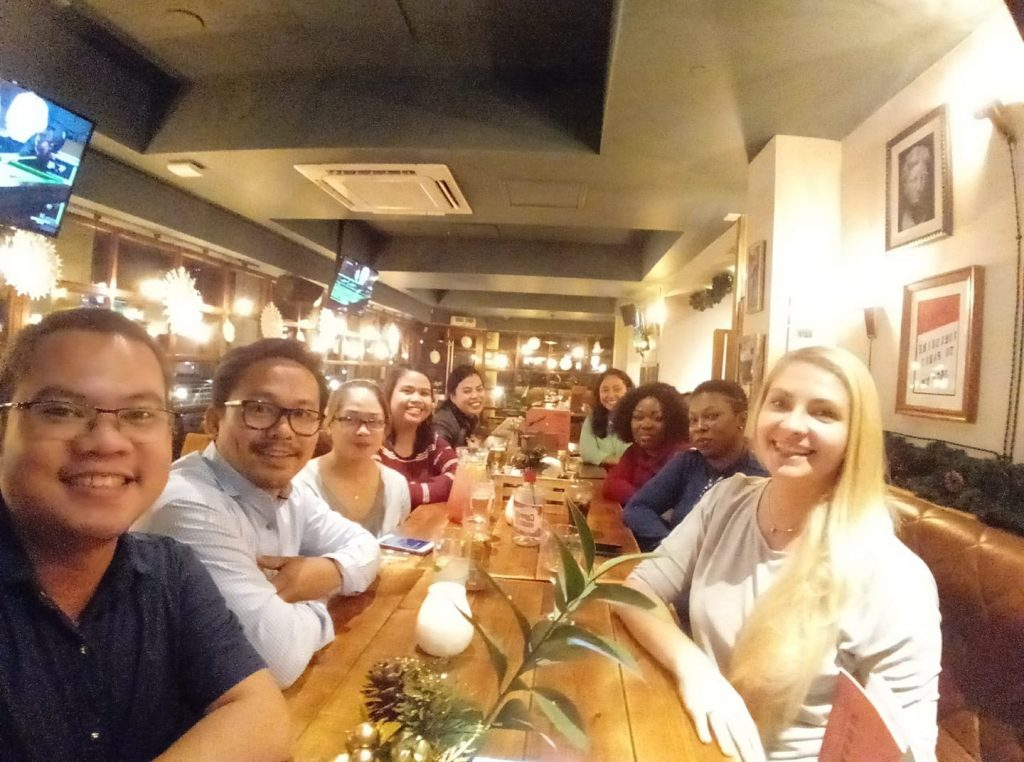 Candidates for York Teaching Hospital NHS Foundation Trust and our director Edyta enjoying a meal in York City Centre.