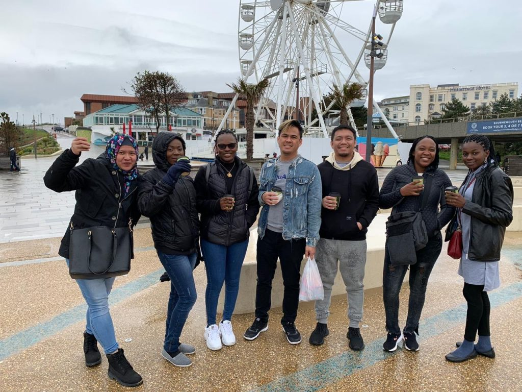 Candidates for The Royal Bournemouth and Christchurch Hospitals NHS Foundation Trust enjoying a get together in Bournemouth City Centre.
