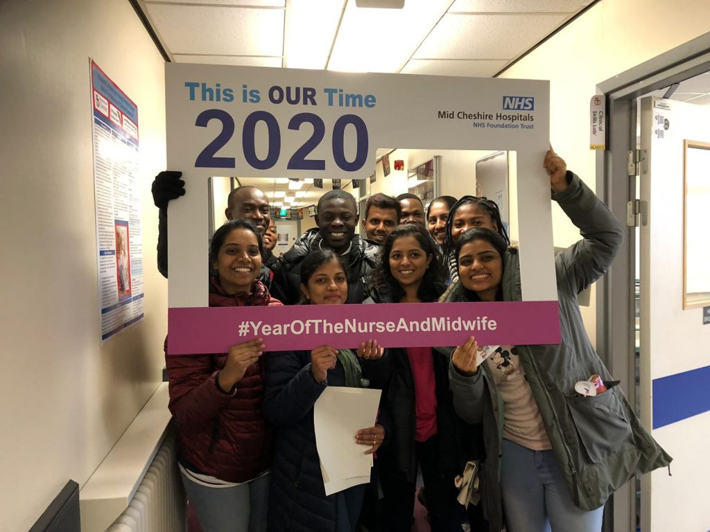 Proud candidates for Mid Cheshire Hospitals NHS Foundation Trust celebrating that 2020 is The Year of the Nurse!