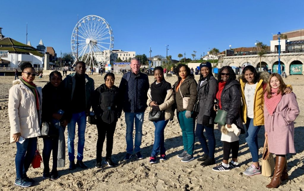 Candidates for The Royal Bournemouth and Christchurch Hospitals NHS Foundation Trust having fun with our director James in sunny Bournemouth City Centre.